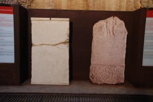 Dues repliques de les inscripcions en una vota de la corba del circ romà