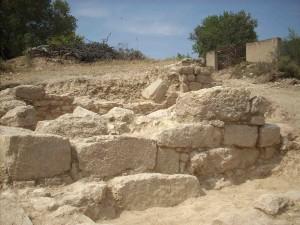 Mur del segle II a l'Argilaga