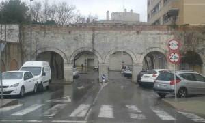 Aqueducte sota la pluja