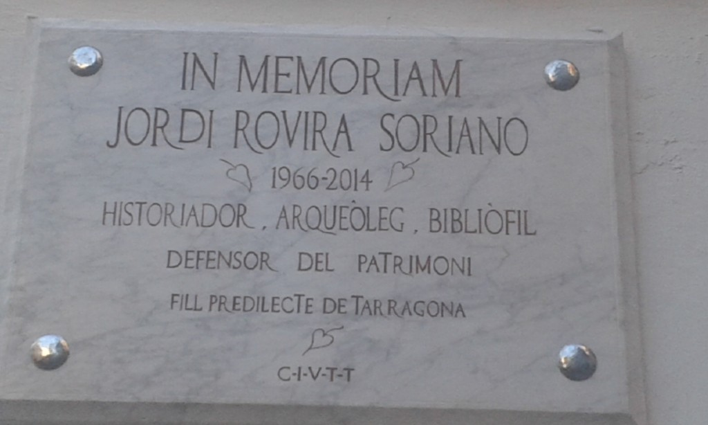 Placa commemorativa JRS